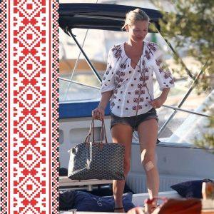 Кейт Мосс у вишиванці
