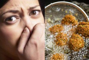 Risultati immagini per cibo fritto puzza