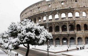 Фото: снігопади в Римі (ilmeteo.it)