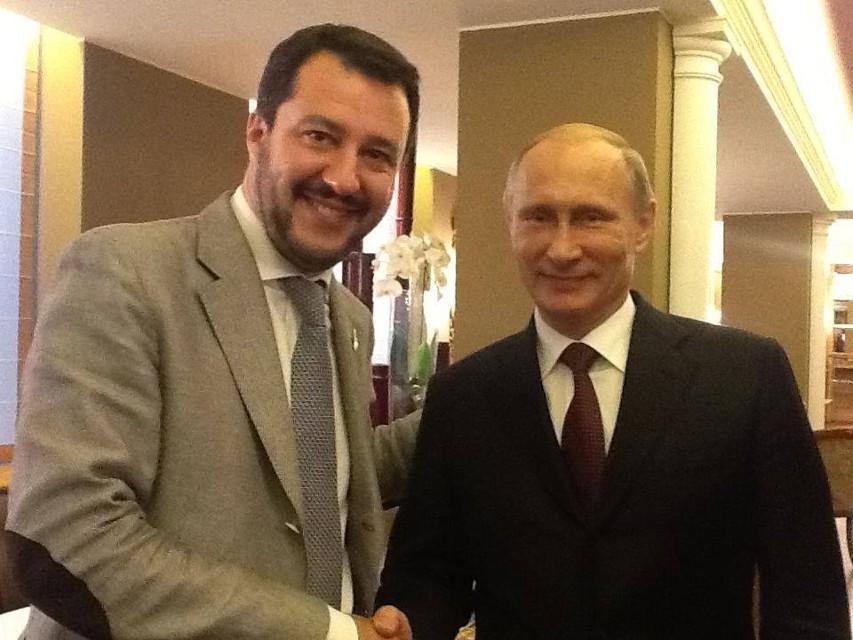 Risultati immagini per salvini russia